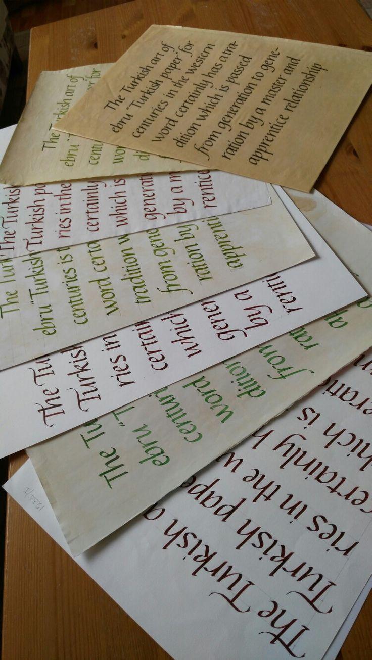 Abdullah SAVCI / Formal Italic Calligraphy 2016