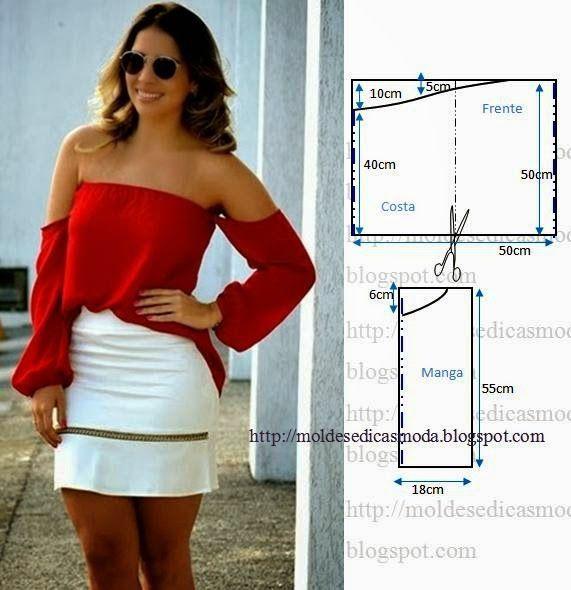 Off shoulder blouse, pattern instructions