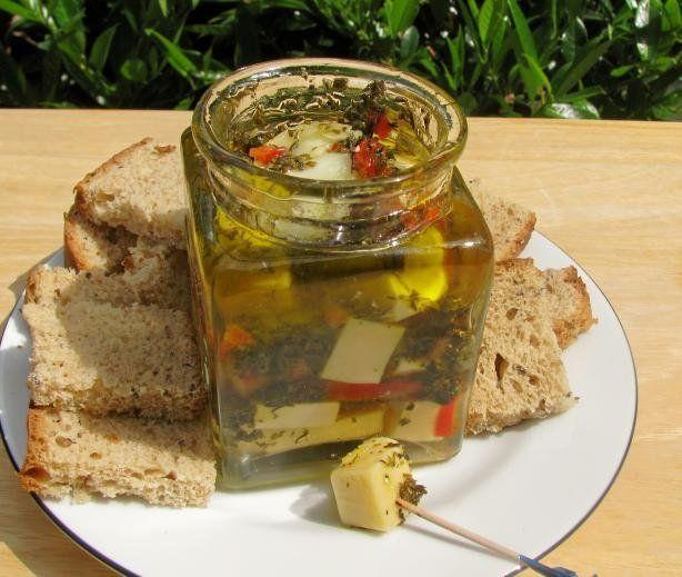 Norwegian Marinated Edam Cheese (Marinert Edamerost)