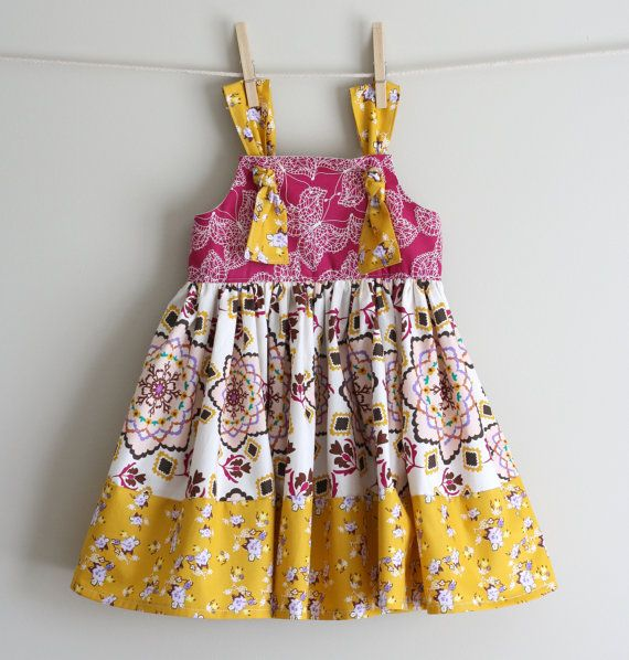 Bijoux by Bari J. Fabric KNOT dress/ AUTUMN ANNA knot dress/ fall dress/ 12 by addisonava