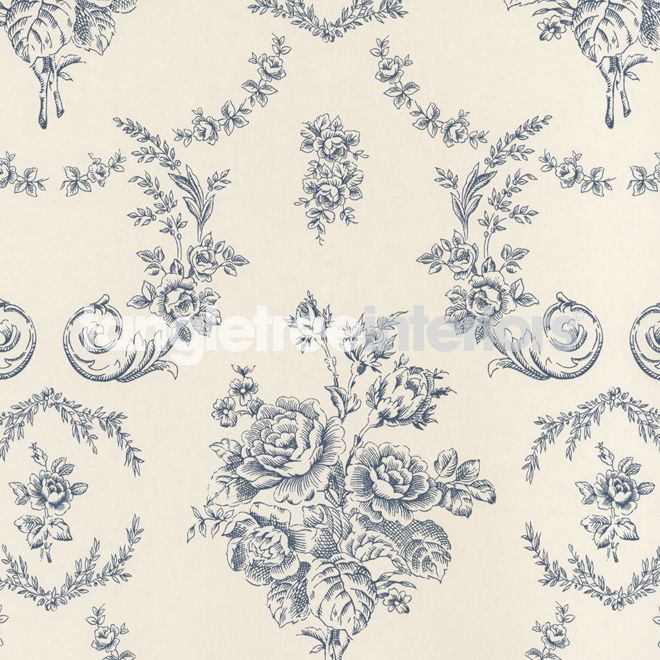 Saratoga Toile wallpaper from Ralph Lauren - PRL033/01 - Iris