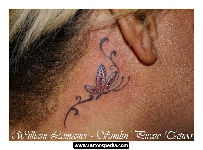 Behind The Ear Tattoo Design Ideas 05