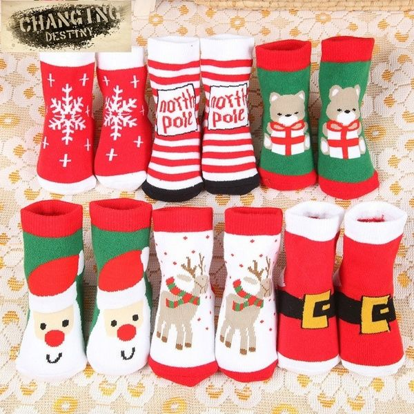 Autumn And Winter Children S Christmas Socks Terry Baby Socks Thicker Cotton Towel Socks For Christmas Gift One Size Baby Cotton Socks Christmas Socks Winter Kids