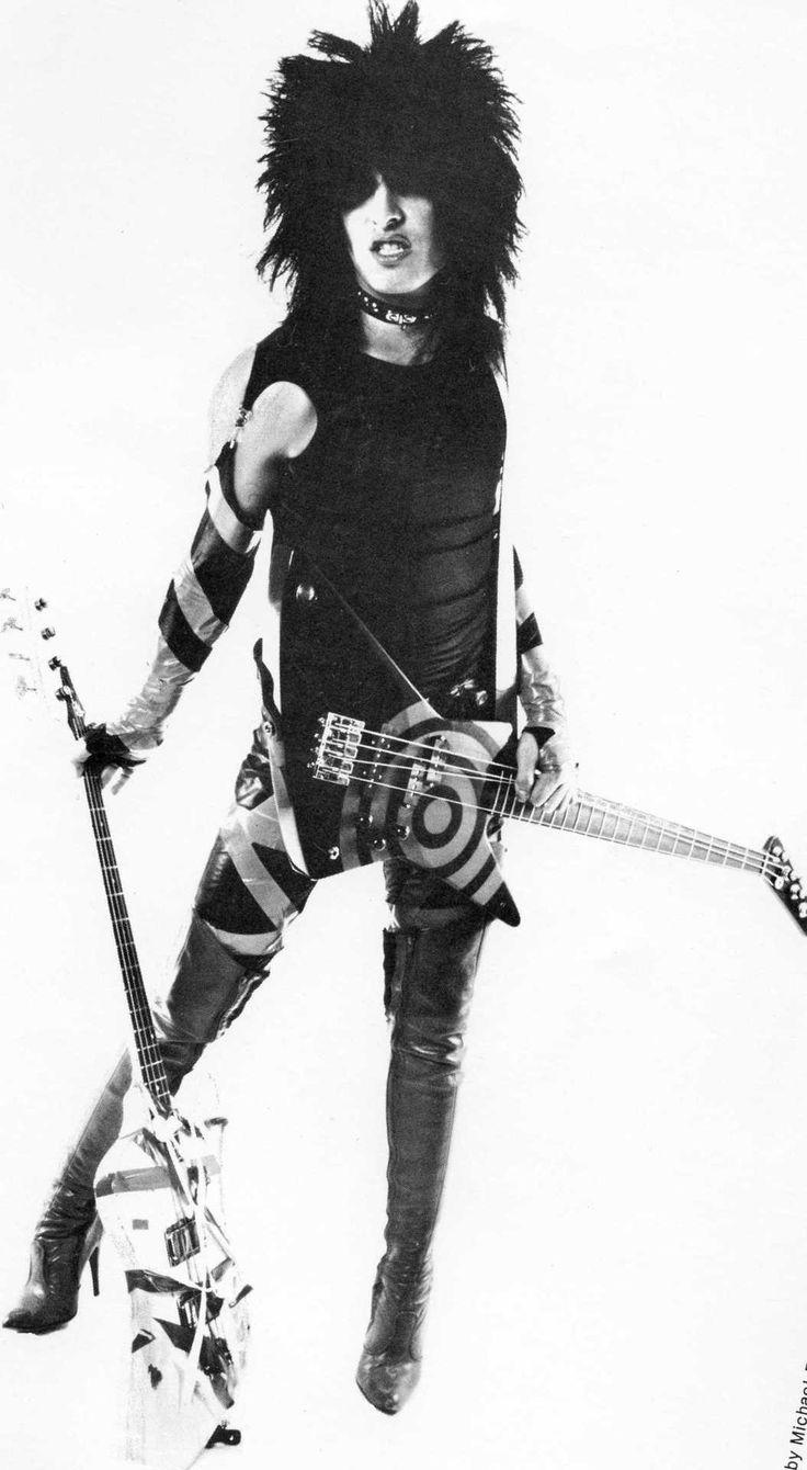 Nikki Sixx, This classic shot. 80s