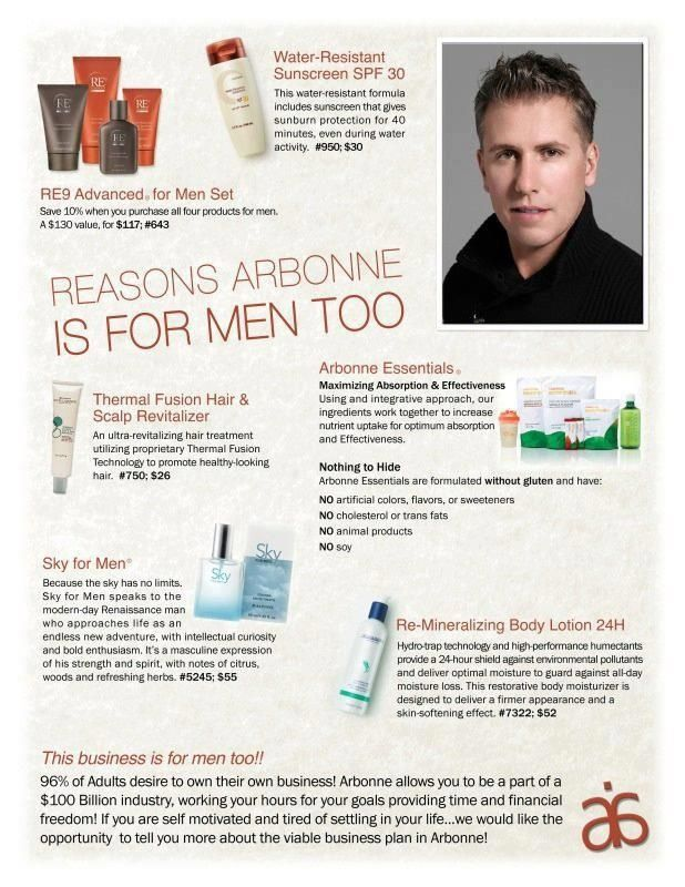 Men love pampering too! Arbonne offers a complete toxin and chemical-free line just for them!