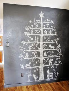 BinnenZinnig, Kunst en Interieur: Alternatieve Kerstboom, kerstboom op de muur