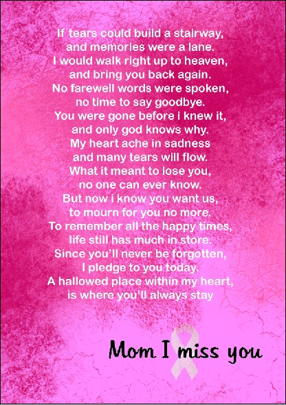 Miss you mom   Quotes/Poems/Memories   Pinterest