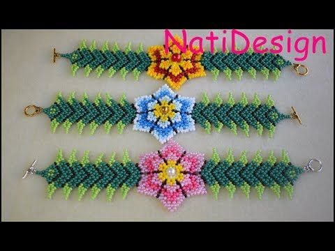 FLORES DOBLES ESTILO HUICHOL - YouTube