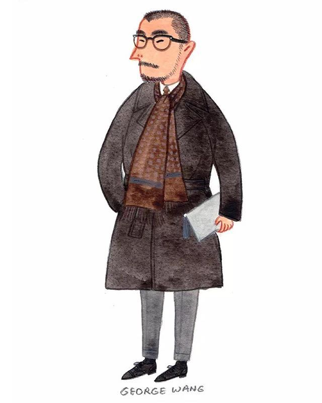 """""""Style comes from your education, experience and attitude. Style is not just how you dress but who you are."""" - George Wang @beijing1980 @briobeijing #mensfashion #fashionillustration #pittiuomo"""