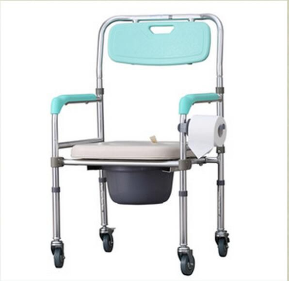 Lm1156 Portable Mobile Toilet Chairs Height Adjustable Folding
