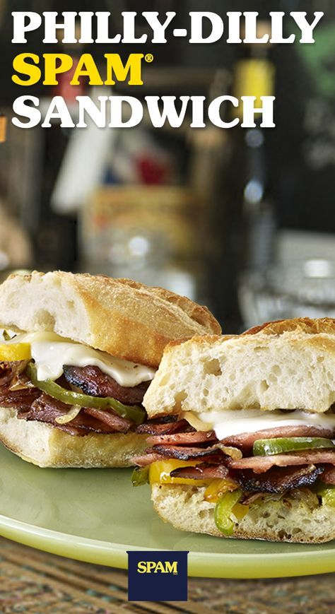 Philly: It's the city of brotherly love and Philly Dilly SPAM® Sandwiches. |SPAM® Brand | Philly Sandwich | Easy Recipes