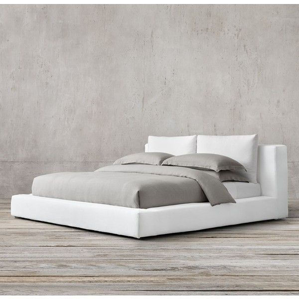 Restoration Hardware Cloud Platform Slipcovered Bed