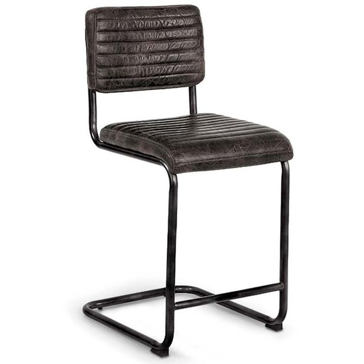 Regina Andrew Antique Ebony Dylan Counter Stool | Designer Furniture | Leather Seating