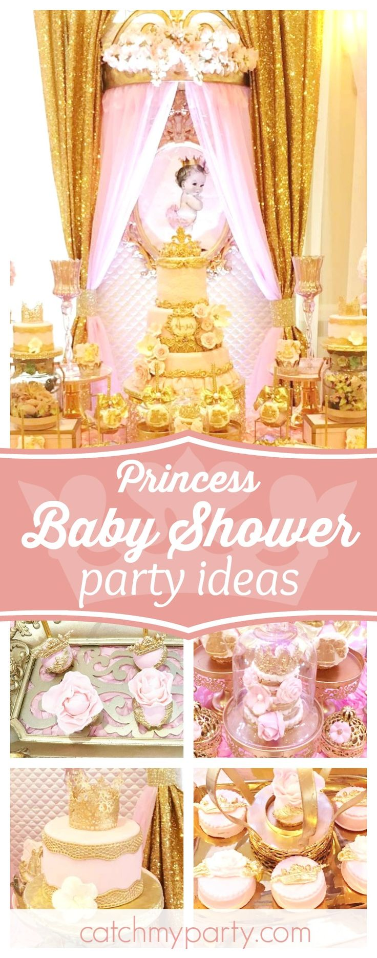 Check out this wonderful Princess Baby Shower. The dessert table is incredible!! See more party ideas and share yours at CatchMyParty.com