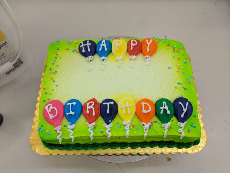 Happy Birthday balloon design sheet cake!