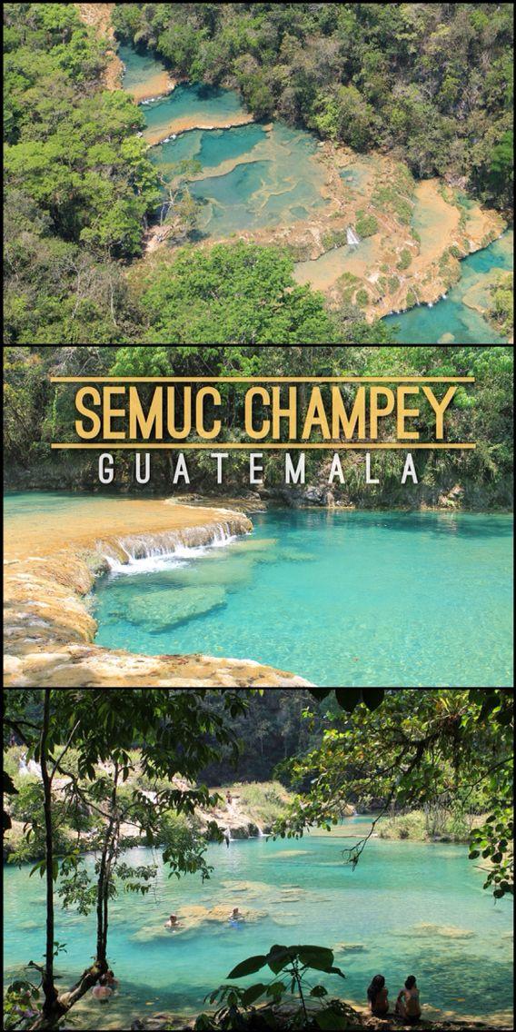 Semuc Champey - One of Guatemala's Best Natural Wonders  Read More: http://mismatchedpassports.com/2016/04/23/semuc-champey-off-the-beaten-track-guatemala/