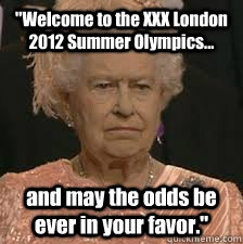 : Summer Olympics, Favors, The Hunger Games, The Queen, Games Stuff, Funny Stuff, The Games, Hungergames, Queen Of England