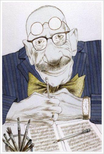 Igor Stravinskij, (acquerello e inchiostro su carta), 1991 / Tullio Pericoli