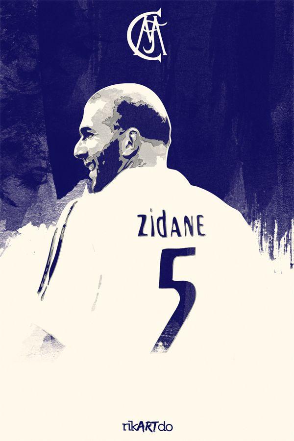 Zidane Real Madrid CF on Behance #soccer #poster
