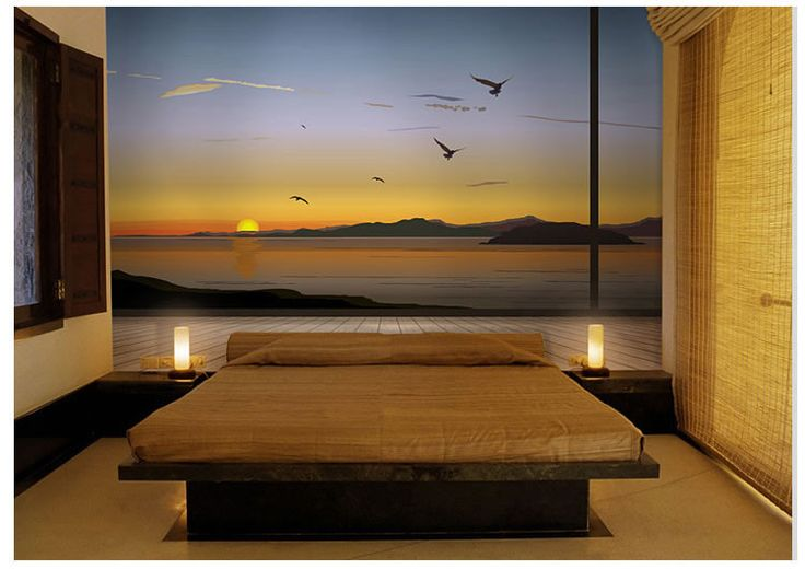 Sunset Wall Paper Wall Print Decal Wall Deco Indoor wall Mural wallpaper