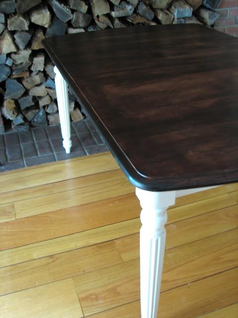 Mahogany Farm Table  Before U0026 After