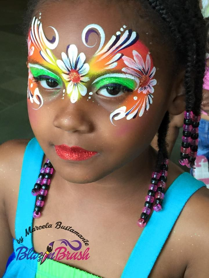 Face painting fairy.
