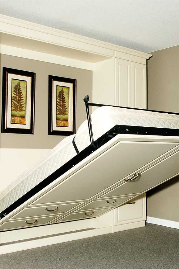 Best 25  Wall beds ideas on Pinterest Murphy Bed   via www smartspaces com If I flip the apartment floor plan. Bed For Living Room. Home Design Ideas