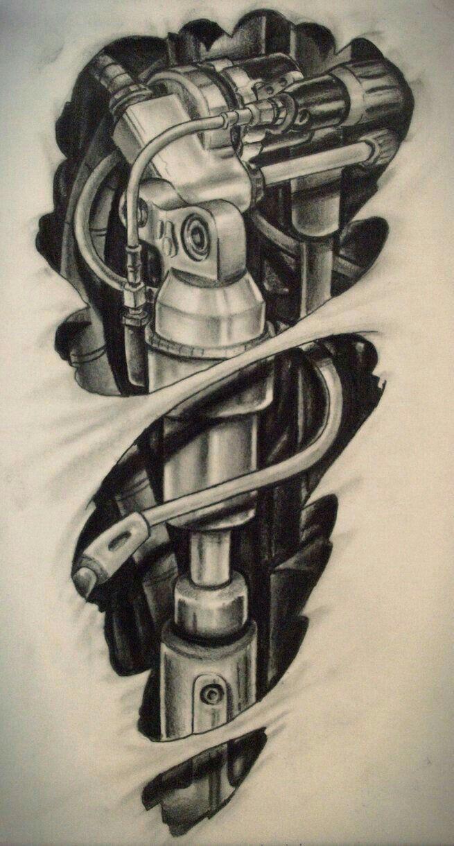 Tattoo gear tattoo sleeve mechanic tattoo mechanical tattoo gears - Roboticks Tattoo Design