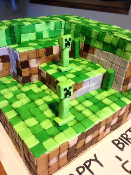 Mine craft cake idea