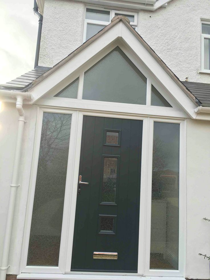 Gable end porch with composite door for Front door roof designs