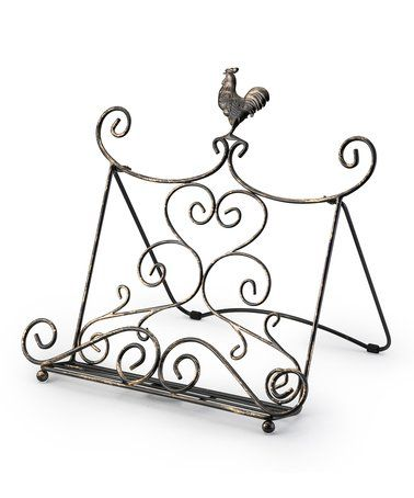 This Rustic Cookbook Stand is perfect! #zulilyfinds