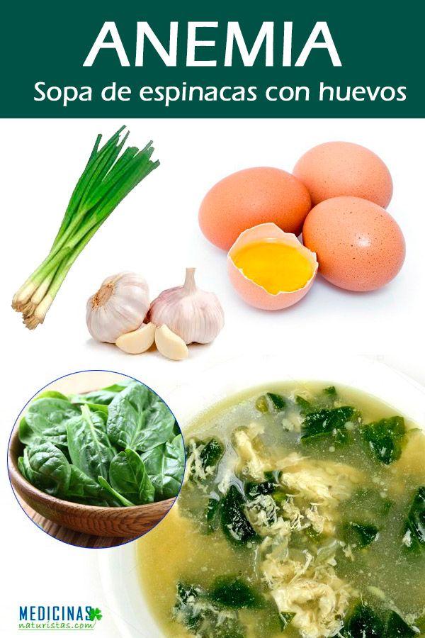 Anemia espinaca recetas de para la
