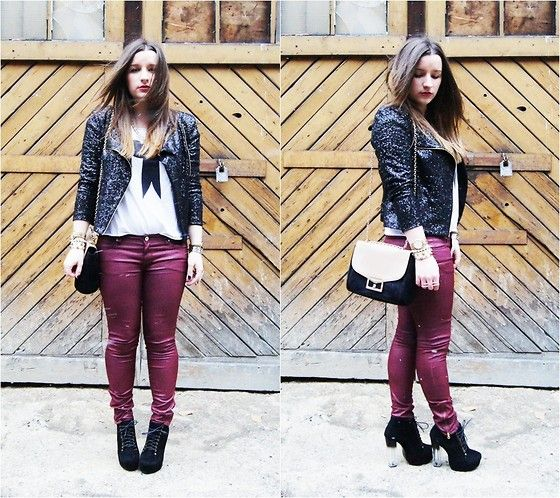 Sequin jacket to beat the winter (by Asia  M.) http://lookbook.nu/look/4711907-Sequin-jacket-to-beat-the-winter