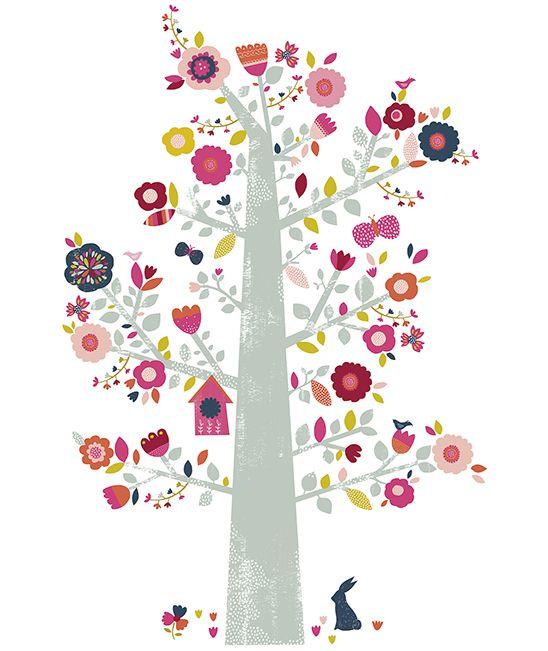 MiPetiteLife.es - Vinilo Infantil Árbol de Flores. Los vinilos LILIPINSO están…