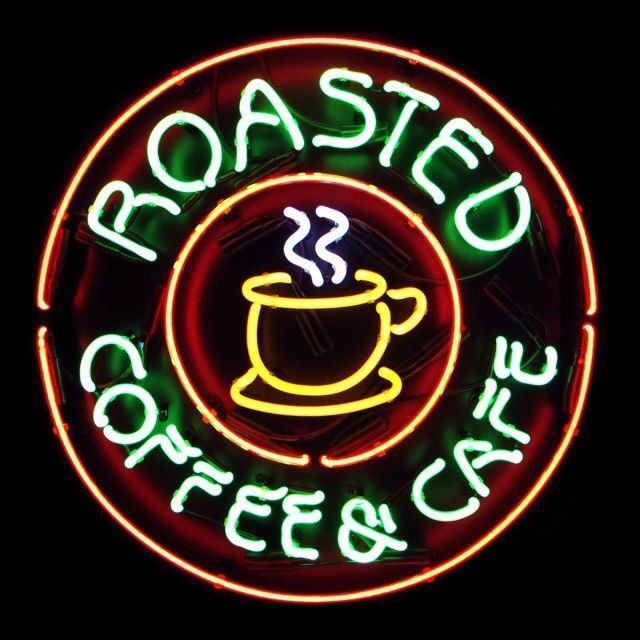 Roasted Coffee Cafe Neon Sign Real Neon Light