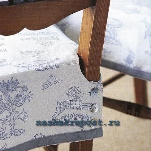 Чехол на стул своими руками выкройки фото