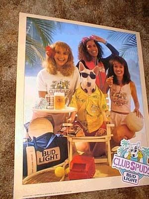 Spuds MacKenzie was a bully breed...bull terrier www.rackcitymt.com supports #no2bsl
