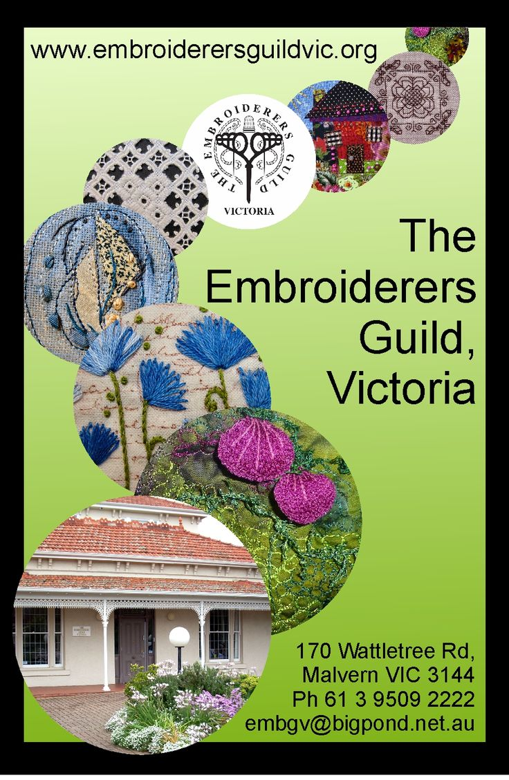 Come and join in the fun at The Embroiderers Guild, Victoria!