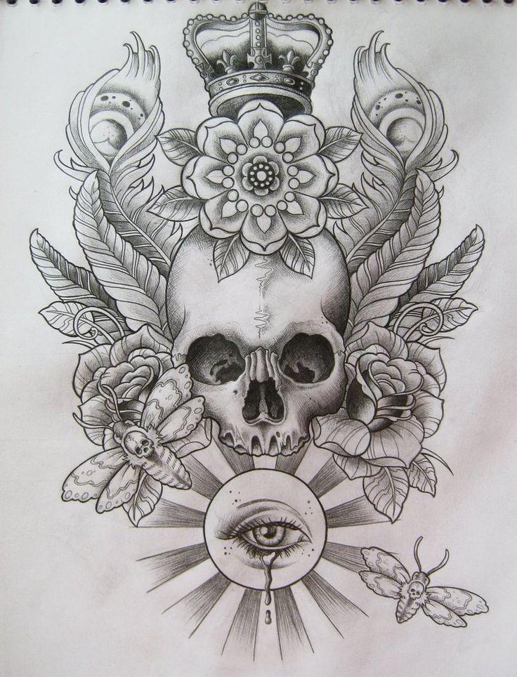 Skull T-Shirt Design by ~Frosttattoo on deviantART