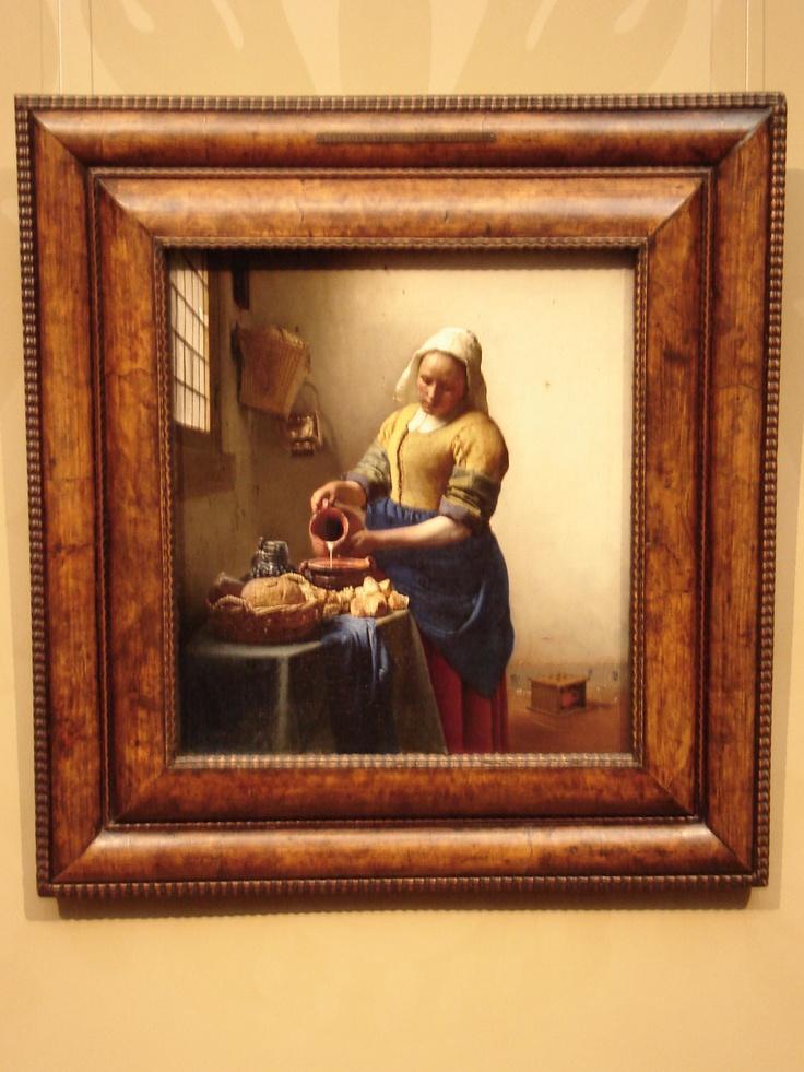 Rijksmuseum, Amsterdam.  Painting by Jan Vermeer.