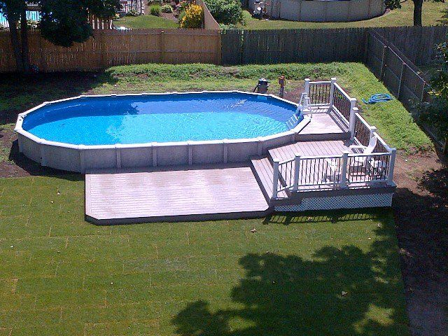 1000 images about brothers 3 pools aboveground semi for Above ground pool decks tampa