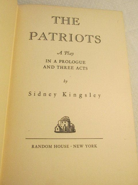 Vintage Book-The Patriots: A Play in a Prologue and Three Acts by TheBookE on Etsy