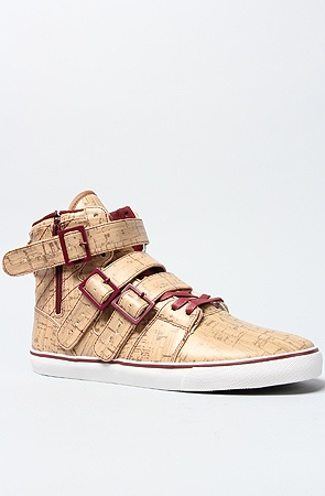 The Straight Jacket VLC Sneaker in Cork & Burgundy
