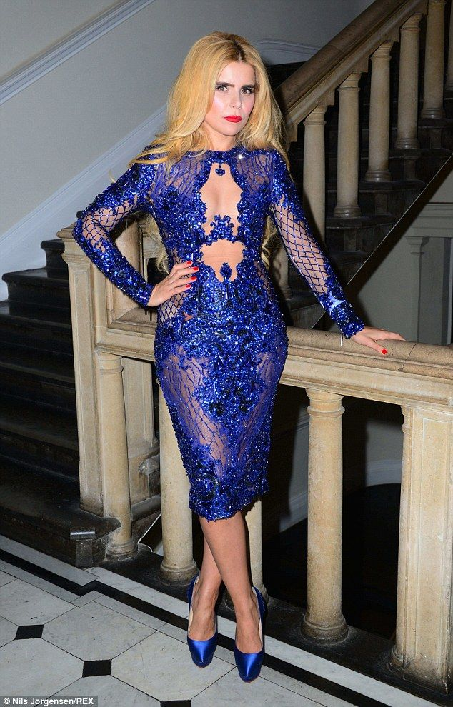 She's electric! Paloma Faith stunned as she showed off her curves in a sheer lace and sequ...