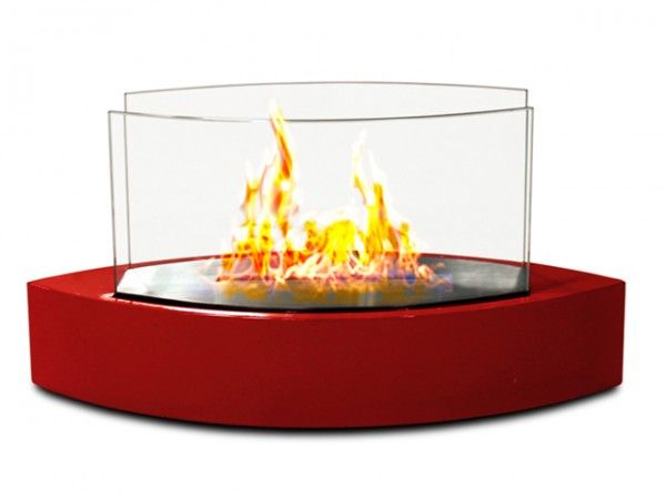 So cool!  Anywhere Fireplace: Lexington Tabletop Contemporary Fireplace. Come in different colors, too!