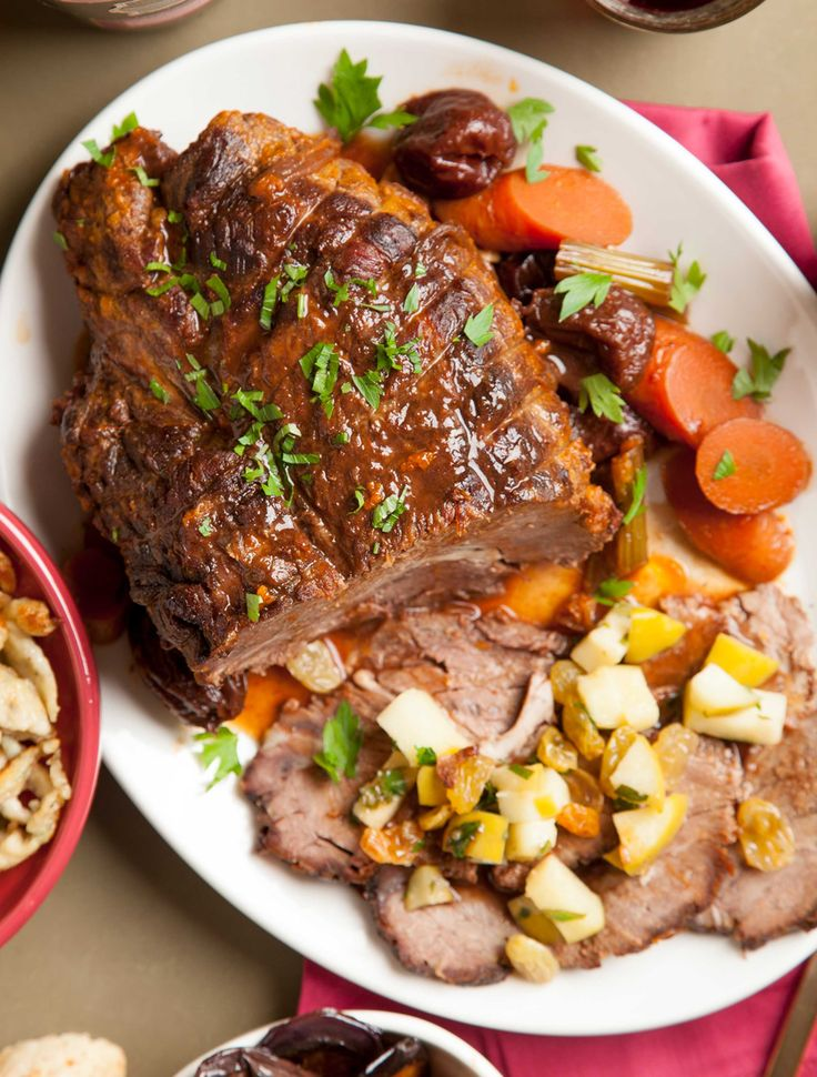 Braised Pot Roast with Prunes, Ancho Chilies, Golden Raisins and ...
