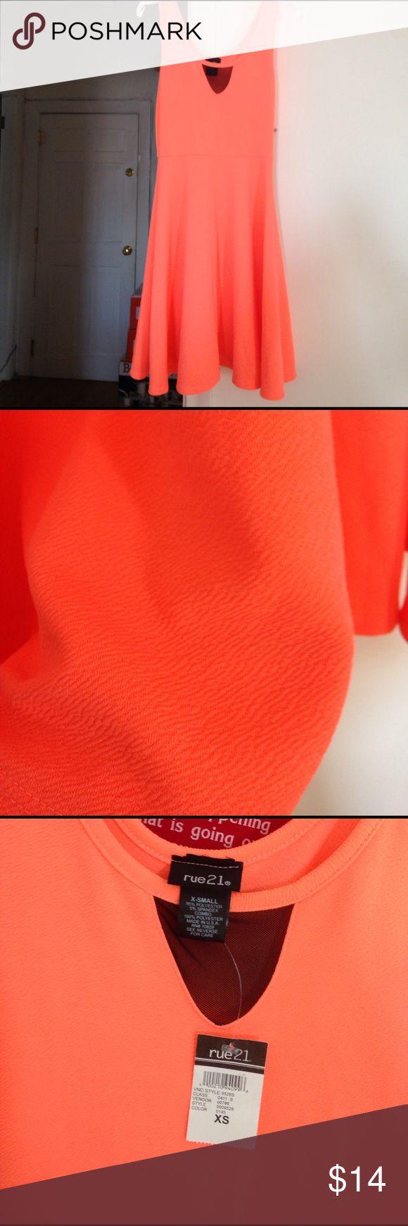 Bright Orange Dress Gorgeous Summer Dress Brand new with tags Rue 21 Dresses Midi