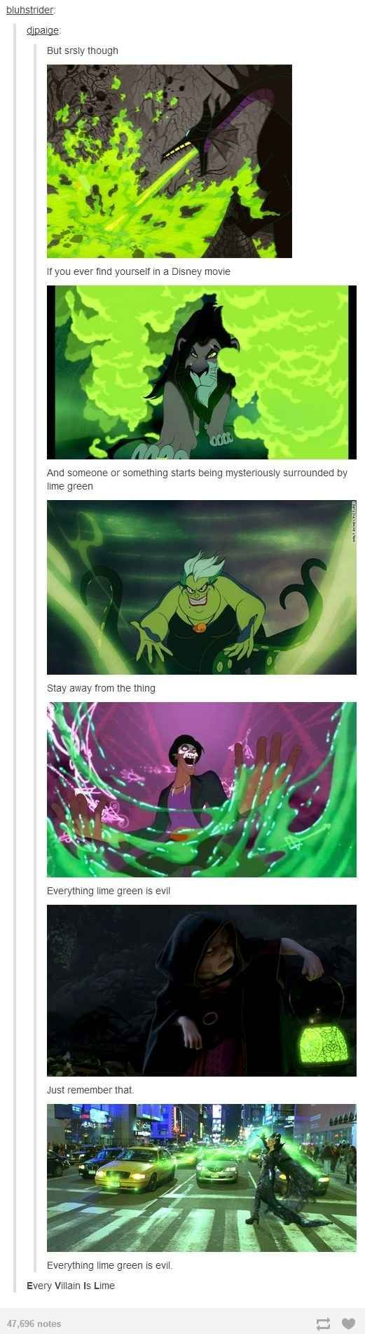 31 times Tumblr had important questions about Disney: When they realised the importance of colours.