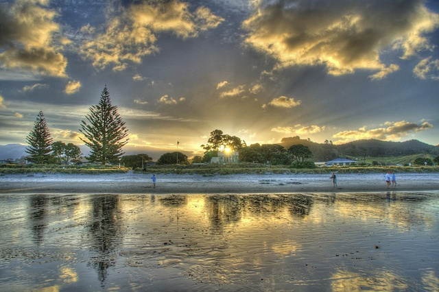 Waihi Beach sunset, NZ.  by SickNote75, via Flickr