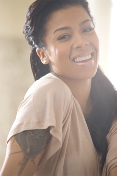 Keyshia Cole - she's just so pretty to me, and has the nicest smile